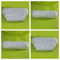 New Hollow Fiber Bolster Pillow Only White in Various Sizes Small, Medium, Large