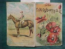 1890 D. M. OSBORNE HARVESTING AUBURN NY MACHINERY PAMPHLET HORSE PROCTOR KNOTT