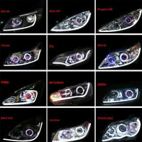 2x White 60CM LED Flexible Soft Tube Car DRL Daytime Running Lamp Strip Light