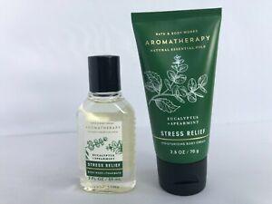 Bath and Body Works Aromatherapy Stress Relief Travel Size Body Cream Shower Gel