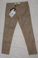 NWT $1080 Blumarine 46 US 10 Jeans Pants Swarovski Gold/Tan Skinny Lizard Women