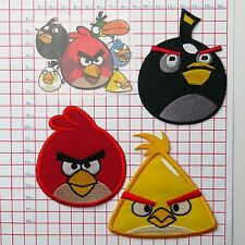 ANGRY BIRDS - Embroidered Patches / Iron-On Transfer Set - T-Shirt / Cap Patches