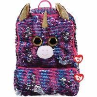 Ty Beanie Boo Rosette Unicorn Reversible Sequin Square Backpack