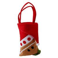 1Pcs Christmas Santa Claus/Snowman/Elk Candy Bag Pouch Xmas Gift Tree Ornament