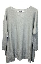 Style & Co Pullover Ribbed Cable-Knit Sweater Women Fashion Gray Large Size NWT