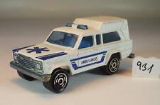 Majorette 1/64 Nr. 269 Jeep Wagoneer Ambulance Krankenwagen Nr.5 #931