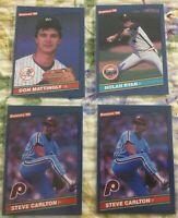 1986 Donruss Baseball Card Star Lot - Nolan Ryan, Mattingly, Carlton X2