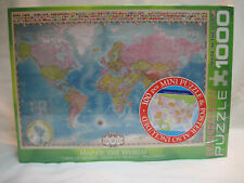 New Eurographics Map of the World 1000 Pc Jigsaw Puzzle + 100 Pc Mini Puzzle