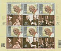 355.Vaticano-Polonia Congiunta 2020.Joint Issue.S.Giovanni Paolo II.Minif. MNH