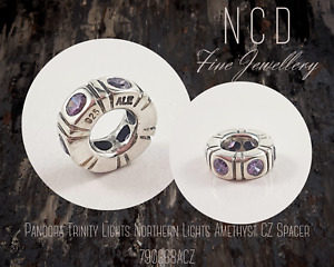 NC Designs Pandora Trinity Lights Northern Lights Amethyst CZ Spacer 790368ACZ