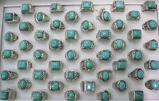 Wholesale Mixed Lots 30pcs Natural Stone Men's Rings Fashion Party Ring