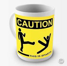 Caution This Is Sparta Funny Novelty Tea Coffee Mug