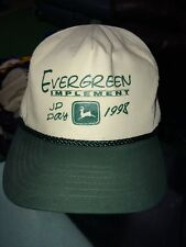 trucker hat baseball cap john deere evergreen implement retro farming retro 1998