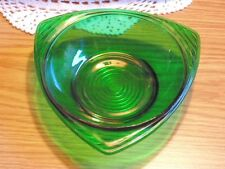 MidCentury Modern Forest Green Bowl Glass Anchor Hocking Glass