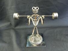 Hand Made Metal Art Weight Lifter By Hinds