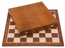 SQUARE - Pro Wooden Chess Set No. 6 - Mahogany LUX - Chessboard & Chess Pieces