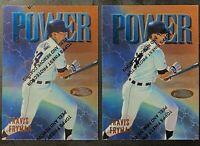 1997 Topps Finest Baseball Power Refractor Travis Fryman #18 Detroit 2-Card Lot