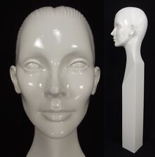 """RARE vintage MANNEQUIN head woman abstract 1960's STORE WINDOW DISPLAY 33"""" TALL!"""