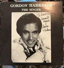 GORDON HARKNESS - The Singer Vinyl Record LP Autographed / Signed KM 1260