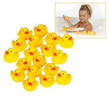 50 Pcs Yellow Rubber Duck's Squeaky  Baby Bath Birthday Toy children play cute