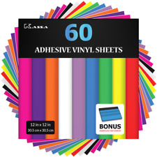 Kassa 12x12 inch Permanent Adhesive Vinyl Sheets - Pack of 60
