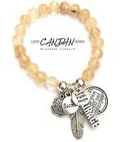 Frienship Courage Love Faith Hope Owl Inspirational Success Gemstone Bracelet