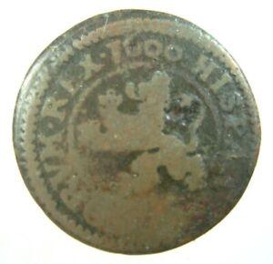 SPAIN 4 MARAVEDIS 1600 FULL DATE SPANISH LION 36# MONEY COIN