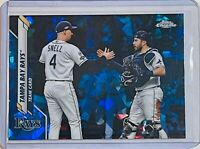 2020 TOPPS CHROME SAPPHIRE REFRACTOR TAMPA BAY RAYS TEAM CARD MEADOWS / SNELL