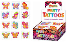 72 Butterfly Tattoos - 6 Packs Of 12 - Loot Party Bag Fillers Kids Temporary