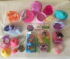 2011 Littlest Pet Shop Teensies Backyard Beaver & Raccoon + Lot Of Accessories