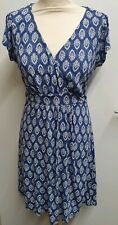 Fat Face Blue Cross Front Dress Size 12