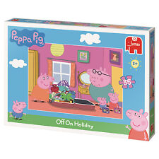 Jumbo Peppa Pig off on Holiday 35 Piece Jigsaw Puzzle 18486d Age 3