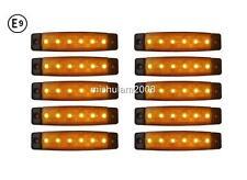 10 x 6 LED 24V Seitenmarkierungsleuchten für Lkw DAF Man Volvo Scania E9 Orange