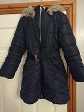 Girls Debenhams Blue Zoo blue Coat Age 9-10