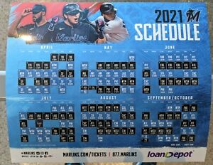 NEW, MINT 2021 Miami Marlins Schedule Magnet! Cheap!