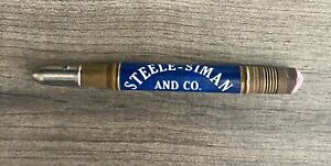 Vintage Bullet Pencil Steele Siman Sioux City Sioux Falls Cattle Hogs Sheep