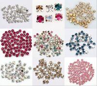 200pcs Rhinestone Crystal Gemstone Spacer Beads Jewelry Making Crafts DIY 4mm