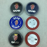 "68mm 2.5"" Logo Front Hood Boot Rear Trunk Emblem Badge fit SAAB 9-3 93 95 Option"
