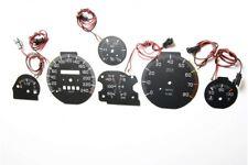 Fiat Uno Turbo glow gauge plasma dials tachoscheibe glow shift indicators MPH KM