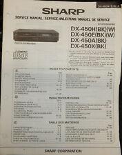 SHARP DX-450H CD PLAYER MANUFACTURERS SERVICE MANUAL