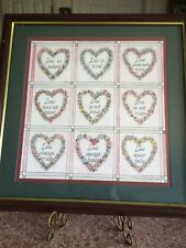 Vtg Love Is Heart Mattie Frame Art Picture By Charles F Muphery