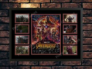 AVENGERS INFINITY WAR CAST SIGNED A4  AUTOGRAPHED MOVIE PHOTO PRINT