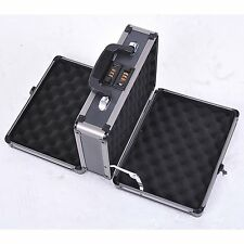 Double Sided Pistol Handgun Gun Case 2 Combination Lock Security Hard Carry Box