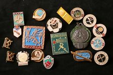 World Lot Eastern Bloc Sport Badges Soviet Hungary Czechoslovakia Soccer Hockey