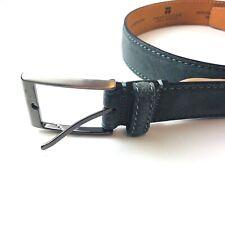 Trafalgar Gray Suede Italian Leather Alston Belt Mens 32 NEW