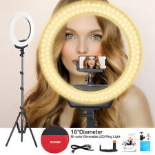 """ZOMEI 16"""" Ring Light LED Adjustable Color Temperature Stand Kit For Live Photo"""