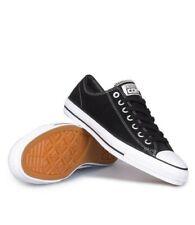 Cons Shoes CTAS PRO LOW Suede Black Black White Converse Skateboard Sneakers