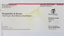 2 x Ringlstetter & Zinner 12.10.2020 München - 1. Reihe - neuer Termin !