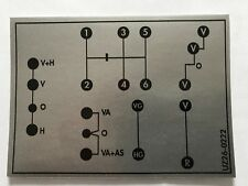 Unimog Schaltschema Aufkleber 421 Großes Getriebe