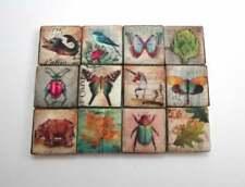 Ceramic Mosaic Tiles - 12 Piece Mixed Set - Mixed Vintage Designs Mosaic Tile